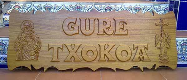 Carteles de madera para casas y chalets - Casa letras madera ...